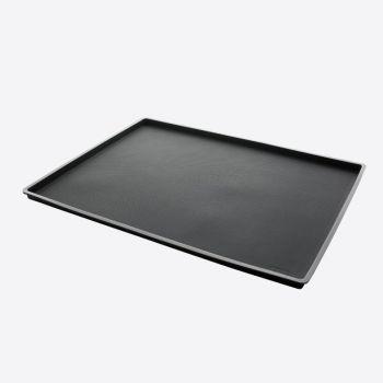 Lékué tapis de cuisson anti-éclaboussures en silicone noir 40x30x1.2cm