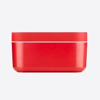 Lékué seau à glace rect. avec moule à glaçons en sil et ABS rouge 22.5x12.5x11.6cm