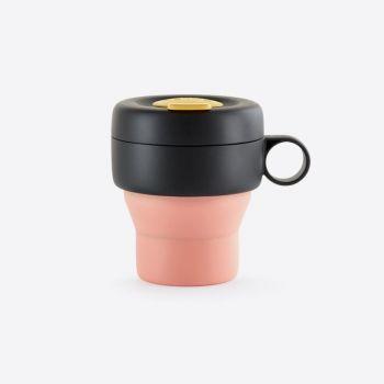 Lékué Mug To Go tasse de voyage pliable en silicone corail 350ml