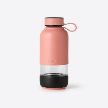 Lékué Bottle To Go bouteille en verre corail 600ml