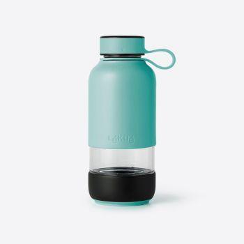Lékué Bottle To Go bouteille en verre turquoise 600ml