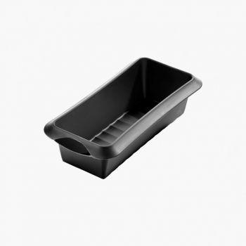 Lékué moule à cake rectangulaire en silicone noir 24x10x6.8cm