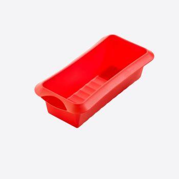 Lékué moule à cake rectangulaire en silicone rouge 24x10x6.8cm