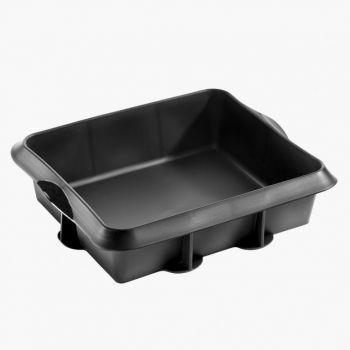 Lékué moule à tarte carré en silicone noir 24x20x6.5cm