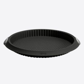 Lékué moule à tarte/quiche à trous en silicone noir Ø 28cm H 3.2cm