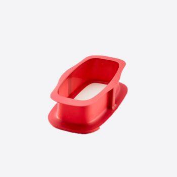 Lékué moule à manqué rect. rouge avec assiette blanc 24x14.4x7.6cm