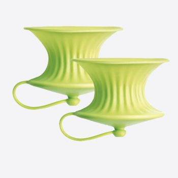 Lékué set de 2 presse-agrumes en silicone vert Ø 8.3cm H 6.3cm