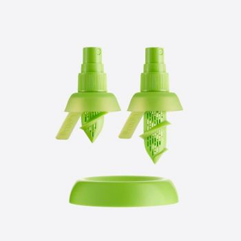 Lékué set de 2 spray pour citron et citron vert Ø 4.3cm H 7.5cm et H 9.5cm