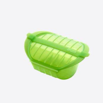Lékué cuiseur vapeur au micro-ondes pour 1-2 pers. vert 21.2x15.5x8.5cm