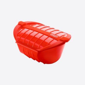 Lékué cuiseur vapeur au micro-ondes pour 3-4 pers. rouge 26x19x11.5cm