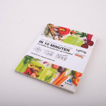 Lékué livre de cuisine 'Van de keuken tot de tafel in 10 minuten' NL