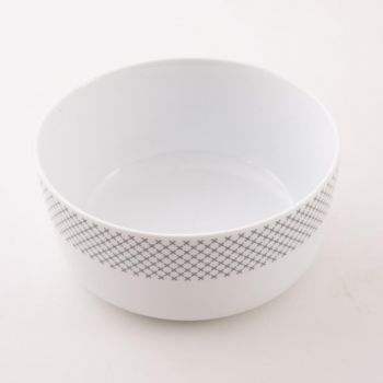 Menu bowl; M; Grey Stitches