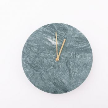 Menu Marble Wall Clock; Green