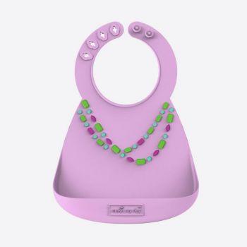 Make My Day bavette pour bébé en silicone Lila Jewels