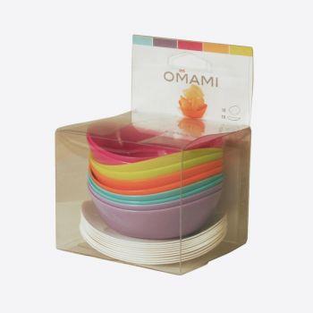 Omami set en 2 couleurs: assiette & 10x assiettes creuses en 5 couleurs