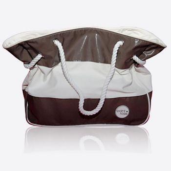 PointRose sac de plage rayé taupe