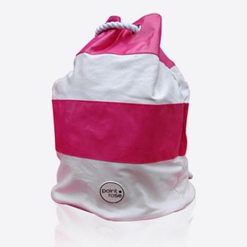 PointRose sac de plage rayé rose