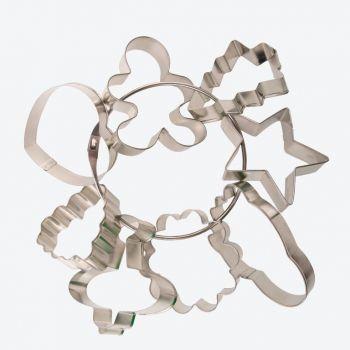 Point-Virgule set de 8 emporte-pièces en métal tinté 7.2x6.6x1.9cm