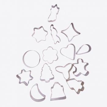 Point-Virgule set de 16 emporte-pièces en inox noël