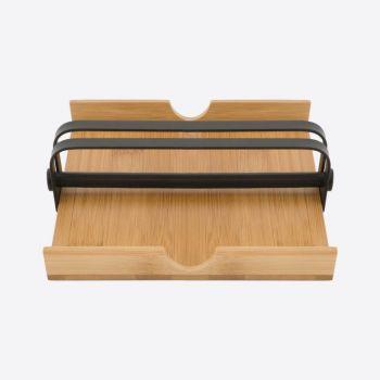 Point-Virgule porte-serviettes en bambou par Tore Bleuzé 18x18x5cm