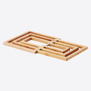 Point-Virgule sous-plat en bambou expansible 19x19x1.2cm