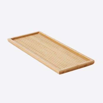 Point-Virgule petit plateau à thé en bambou avec relief 38x15.5x2cm