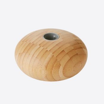 Point-Virgule bougeoir en bambou pour chandelle ø 11cm H 5.5cm