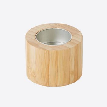 Point-Virgule bougeoir en bambou pour bougie chauffe-plat ø 7cm H 5cm