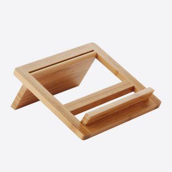 Point-Virgule lutrin pour livre de cuisine/tablette en bambou 24x26.5x2cm