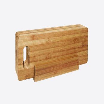 Point-Virgule 4 planches à petit déjeuner en bambou avec support 29x16cm