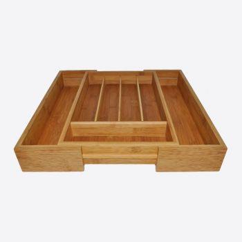 Point-Virgule range-couverts ajustable en bambou 40.5x26.5x6.5cm