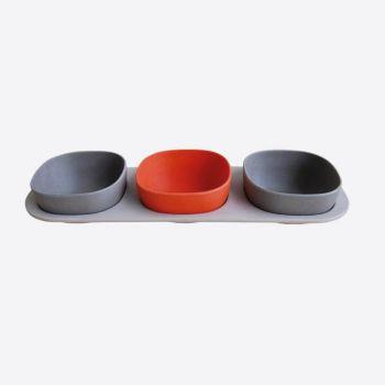 Point-Virgule set à tapas en fibre de bambou 4 pièces 33x11x5.5cm