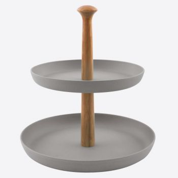 Point-Virgule présentoir en fibre de bambou gris ciment ø 19cm & ø 24cm