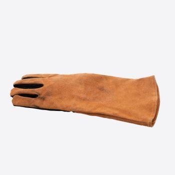 Point-Virgule gant de barbecue gauche en cuir marron et noir 42x20cm