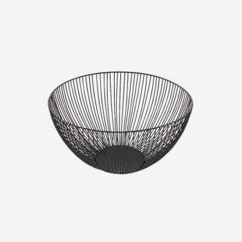 Point-Virgule Wire panier noir ø 25cm H 14cm