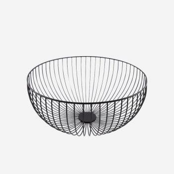 Point-Virgule Wire panier noir ø 30cm H 13cm