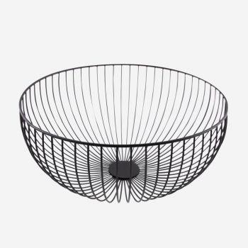 Point-Virgule Wire panier noir ø 35cm H 15cm