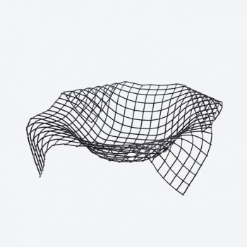 Point-Virgule Wire Envelope panier noir 30x30x7.5cm