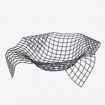 Point-Virgule Wire Envelope panier noir 34x34x8.5cm