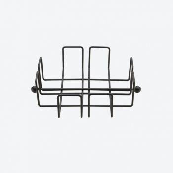 Point-Virgule Wire porte-serviettes noir 19.5x19.5x6cm