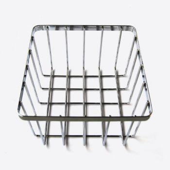 Point-Virgule panier à pain en chrome 20.5x20.5x13cm