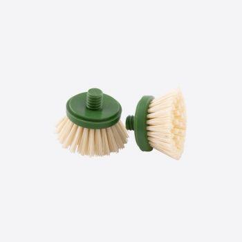Point-Virgule set de 2 têtes de rechange pour brosse à vaisselle en bambou