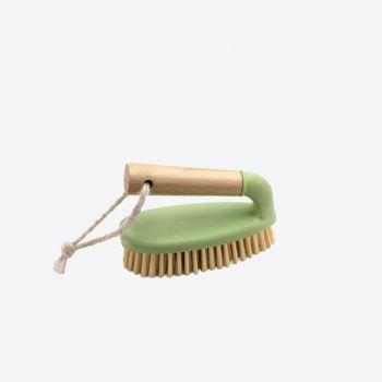 Point-Virgule brosse abrasive poignée en bambou et mat.synth. recyclée 14.5x7x9.5cm