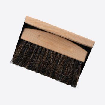 Point-Virgule ramasse-miettes en bambou et crin de cheval noir 15.5x10.7x4cm