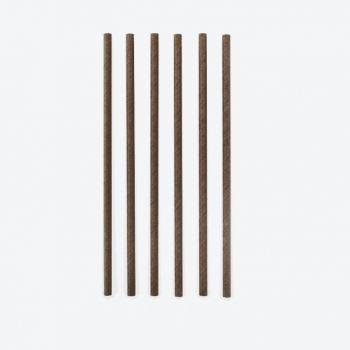 Point-Virgule set de 48 pailles en papier noir 19.5cm