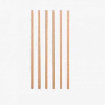 Point-Virgule set de 48 pailles en papier brun 19.5cm