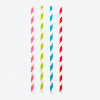 Point-Virgule set de 48 pailles en papier coloré 19.5cm