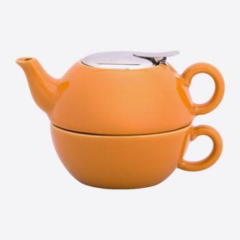 Point-Virgule théière avec infuseur 1 tasse orange 850ml