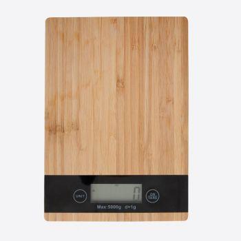 Point-Virgule balance de cuisine digitale en bambou 5kg