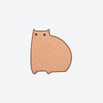 Point-Virgule sous-plat en liège chat 14.1x12.9x1cm